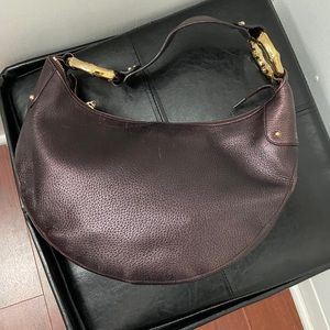 Gucci leather bamboo ring shoulder bag